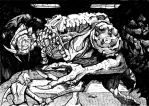 Rancor chow down. by ComicStumps