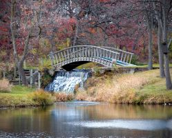 Bridge With Waterfall by ktryon