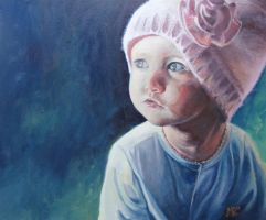 Little Girl in a Big Hat by madizr