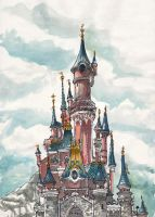 Disneyland Castle by aneesah
