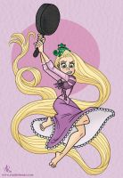 Tangled: Rapunzel + Frying Pan by StudioBueno