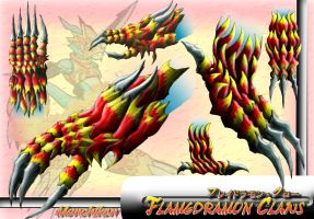 Flamedramon's Claw-color by monchiken