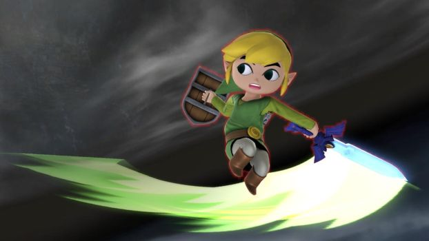 Toon Link: Spin Attack. by user15432
