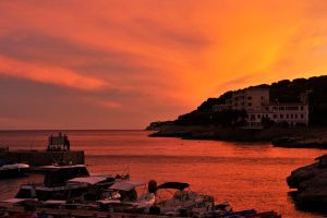 Cassis harbour sunset 1 by wildplaces