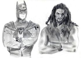 Fatman and Ronon by severedflesh