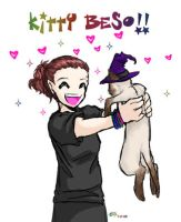 kitty beso by Iciclefobbit