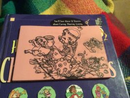 Triforce Heroes rubber stamp (drawn) by shibblesgiggles01