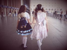 Walking by NocturneGothicLolita