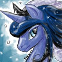 Princess Luna speedpaint by Feniiku