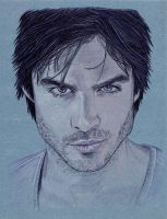 Damon Salvatore by BloodyVoodoo