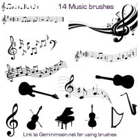 Musical Brushes by Kristinastar