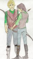 Peeta and Katniss by horseybella1197
