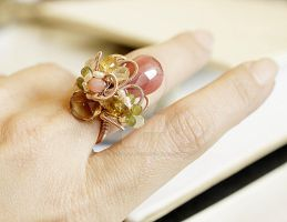Vintage Embroidery Ring by CrysallisCreations