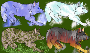 element wolf adoptables CLOSED by QueenYami