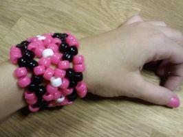 Pony Bead woven Bracelet by EllasDesigns