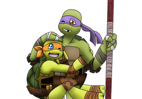 Collab - Mikey And Donnie by AR-ameth
