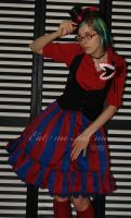Striped circus skirt by zeloco