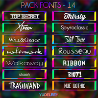 Pack Fonts 03 by YuDelRey