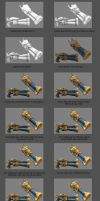 Captain Fortune's Gun Texturing Process by YBourykina