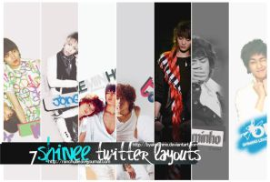 Shinee Twitter Layouts by Byakushirie