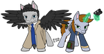 Littlepip and Castiel by Vetrina-271