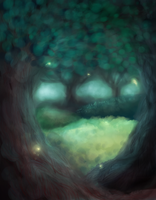 School Project: Forest WIP by 3o2