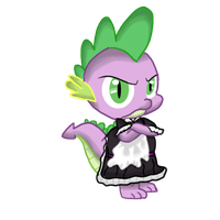 Spike The Maid by MilesElectric