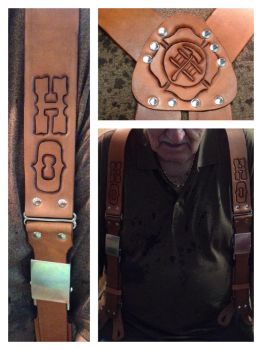 Fireman suspenders by leathercraft1990