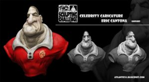 Cantona Caricature by atlantiz15