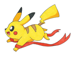 Pikachu get out of my ribbon box by OEmilyThePenguinO