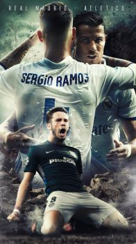 Real Madrid vs Atletico Madrid - HD Poster by Kerimov23