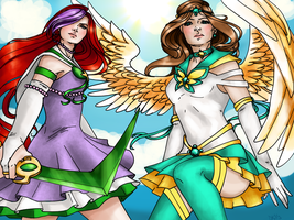 Request of Celestial Aquila and Pure X by Aerorwen