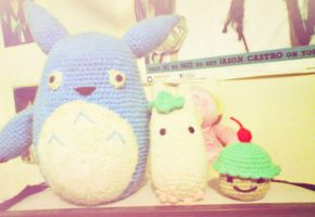 blue totoro and friends by Em-Ar-Ae