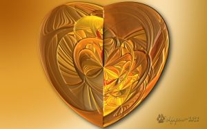 Golden Loonie Heart by wolfepaw