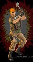 G.I. Joe Tollbooth figure packaging illustration by AdamRiches