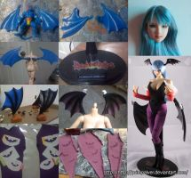 Morrigan Aensland 1/6 custom figure Making Of 1 by PrimPalver