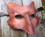 Once Upon A Time Scar Fox Leather Mask by SilverCicada