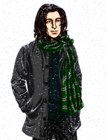Severus in the Snow by Tsuki-Yue