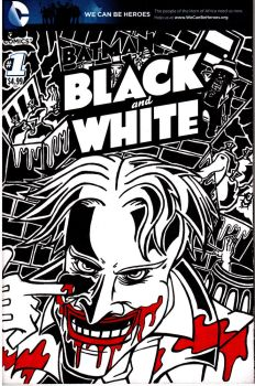 The Joker in Black and White by MindMage