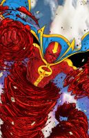 Red Tornado p1 colored by RCarter