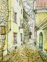 Streets of Tallinn by Leliumoj