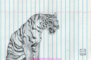 Caged Tiger by DablurArt