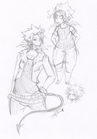 Hiruma sketches by Squidbiscuit