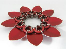 Scale Sunflower Scrunchie 3 by BorealisMetalWorks