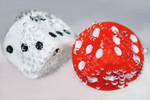 white dice - red dice by Steeeffiii