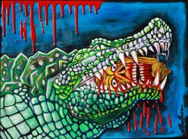 Crocodile Lollipop by barbosaart