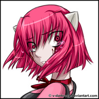 Elfen Lied Lucy crying by xDarkreepx