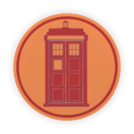 TARDIS Emblem RED by MarcoMetalWolf