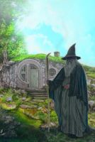 hobbithole Gandalf by strib
