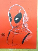Dead Pool Con color paper by JoeyVazquez
